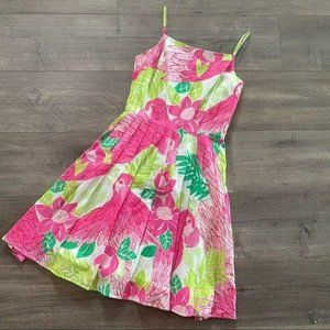 Vintage Lilly Pulitzer Ports Of Caw Pink Dress